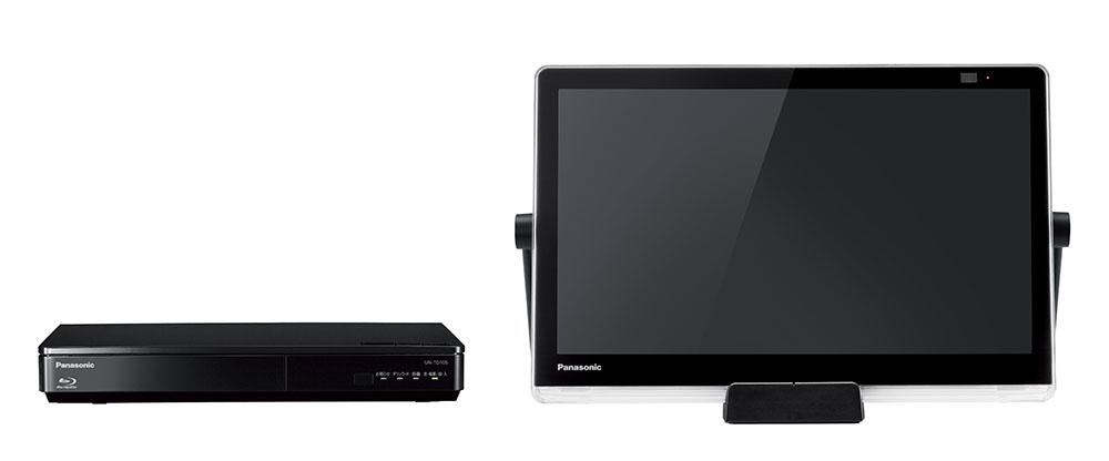 画像: チューナー部にHDDを内蔵し、ディスク再生機能も備えた「UN-15TD10」。モニター部の中央にあるのが、新たに追加されたクレードル式の充電台