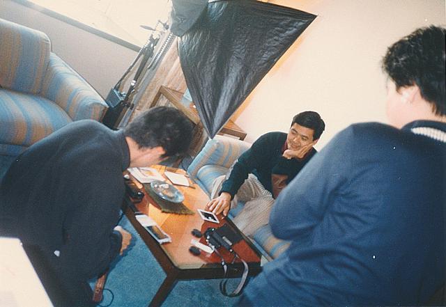 画像: インタビュー時のひとコマ