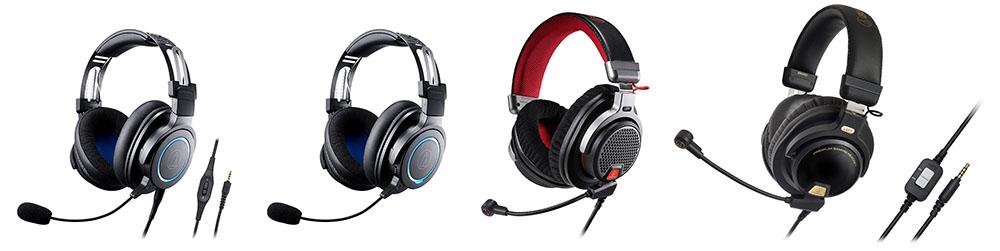 画像: 左から「ATH-G1」「ATH-G1WL」「ATH-PDG1a/ATH-PDG1」「ATH-PG1」(ATH-PG1は生産完了品)