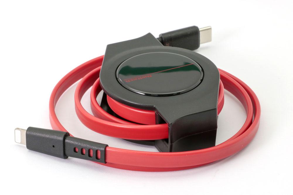 画像1: オウルテック、持ち運びに便利なUSB Type-Cケーブル、巻き取り式、Lightningコネクター対応など、全4種類を6月17日より発売