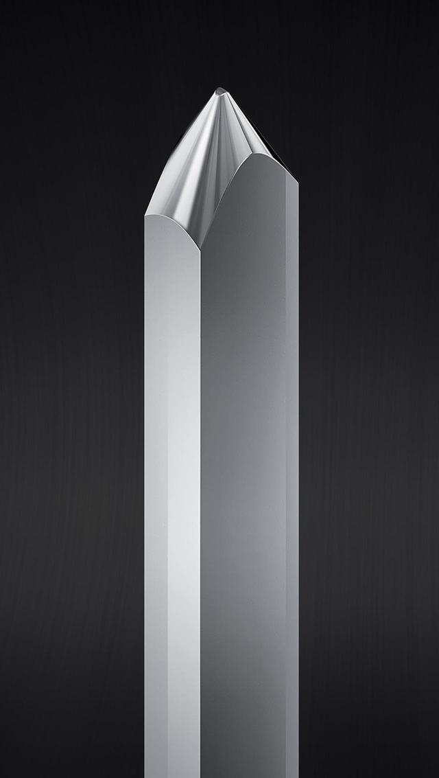 画像: AT-VM95MLに採用の無垢マイクロリニア針の針先イメージ。先端曲率半径は2.2×0.12mil。