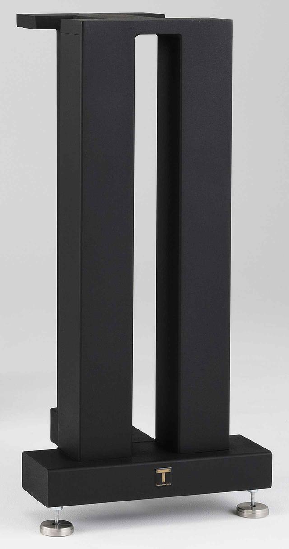 画像: ↑別売の推奨オプション、米国サウンド・アンカーズ製スタンド(重量31.3kgのスチール製)で試聴。卓上で仰角を付けてセッティングできるマジコ製専用クレードル(¥100,000ペア)など豊富なオプションが用意される。