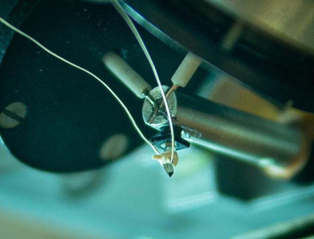画像: 試聴の結果、最終的に今回のLP製作において採用された「アダマンド並木精密宝石」のサファイア針 写真提供:上田佳子(キングレコード)