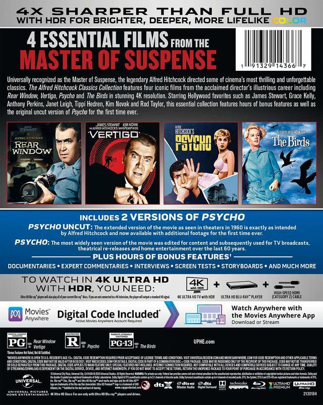 画像2: 4Kレストア&DTS:Xで登場『アルフレッド・ヒッチコック・クラシックス・コレクション』【海外盤Blu-ray発売情報】