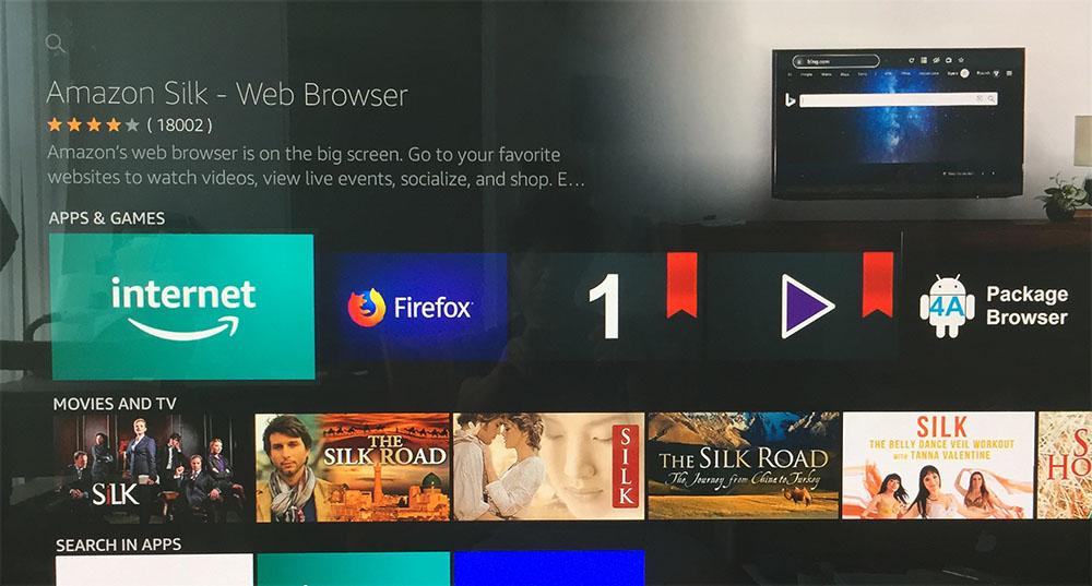 画像: まずはFire TV Stick 4Kにアマゾンのブラウジング用アプリ「Amazon Silk」をインストール
