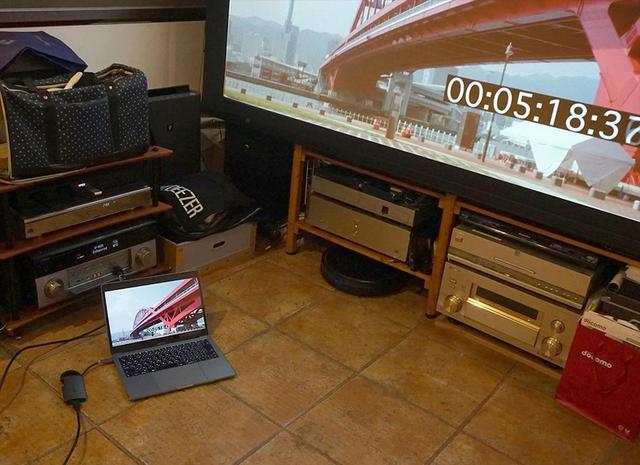 画像: MacBook PROで再生した絵と音をわが家のホームシアターで再生してみた