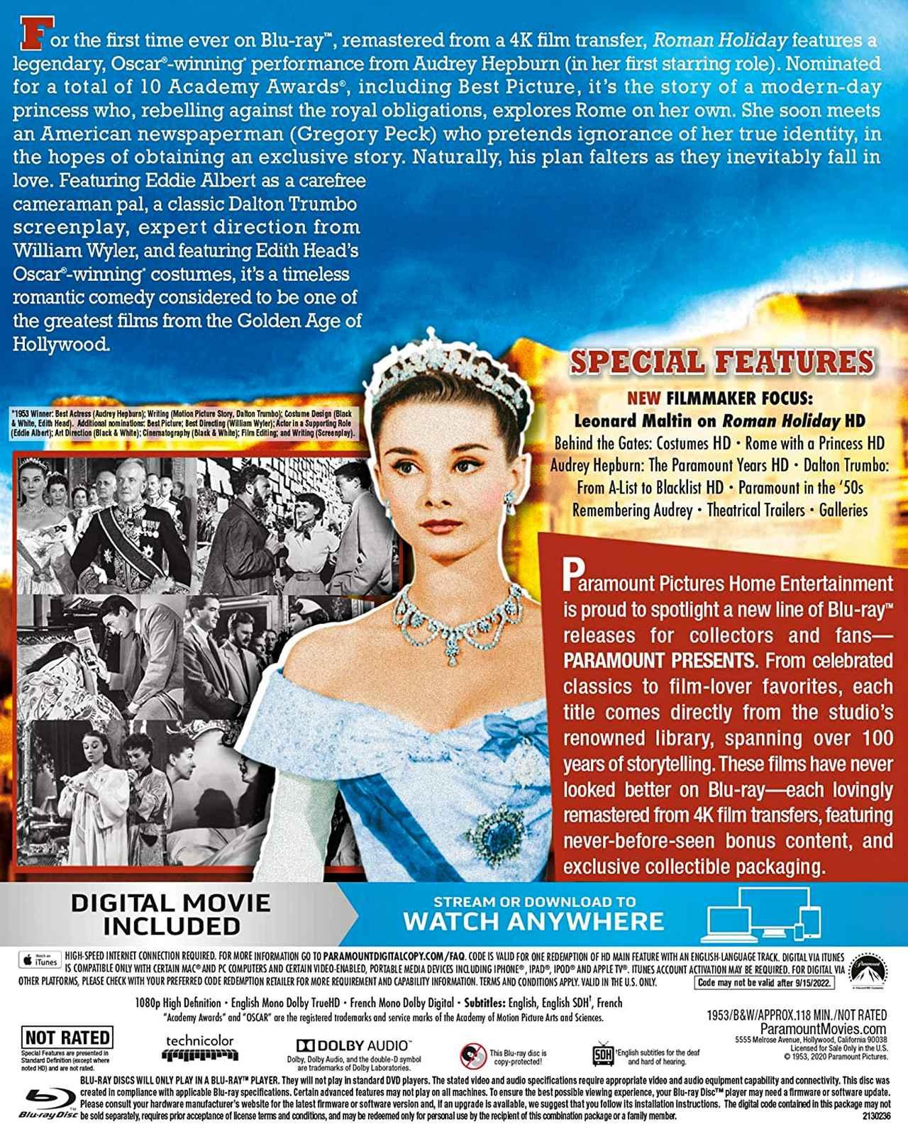 画像2: 《Update》最新4Kレストアで初BD化『ローマの休日』【海外盤Blu-ray発売情報】