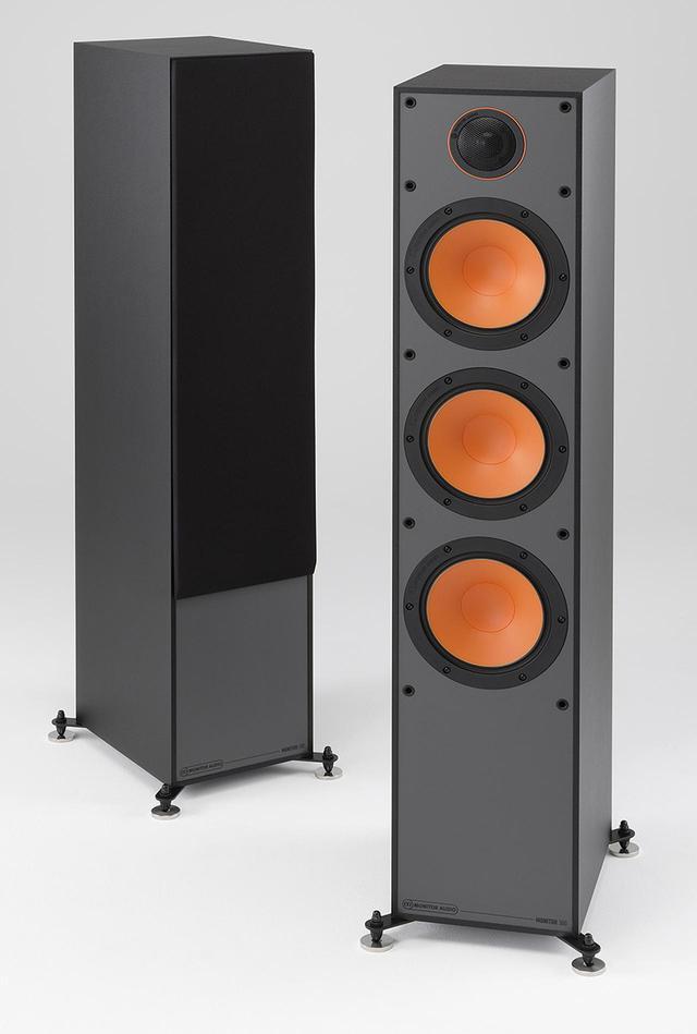 画像: Speaker System モニターオーディオ Monitor 300 ¥110,000(ペア) ●型式:2.5ウェイ4スピーカー・バスレフ型●使用ユニット:ウーファー・16.5cmコーン型×2、ミッドレンジ・16.5cmコーン型、トゥイーター・2.5cmドーム型●インピーダンス:8Ω●感度:90dB/W/m●クロスオーバー周波数:700Hz、3.3kHz●寸法/重量:W252.9×H993×D318.9mm/13.7kg●備考:写真のブラック仕上げの他にホワイト仕上げ、ウォールナット仕上げあり