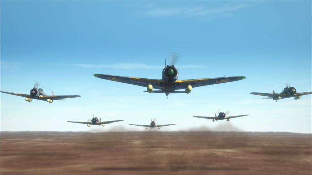 画像: CGで描かれた戦闘機による、リアルでしかも大胆な空戦アクション