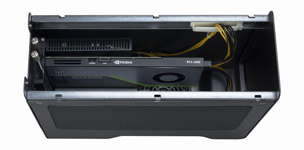 画像2: Dynabook、8K対応の映像編集システムを発表。ノートパソコン「dynabook Z95」+「Quadro RTX 4000」を内蔵した「GPU Box」という2ピース構成