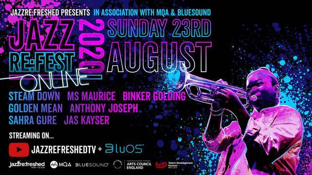 画像: BLUESOUND、コントロールアプリ「BluOS」がMQAライブストリーミングに対応。8月23日開催の英国の新人ジャズプレーヤーの配信が、MQA音質で楽しめる