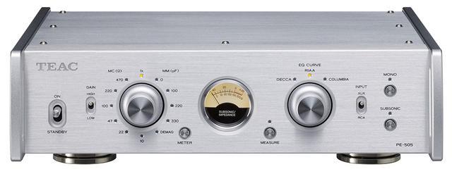 画像1: MCカートリッジのバランス入力に対応した、ティアックのフォノイコライザーアンプ「PE-505」が8月下旬に登場。レコードに刻まれた信号を、原音に近い音質で再現