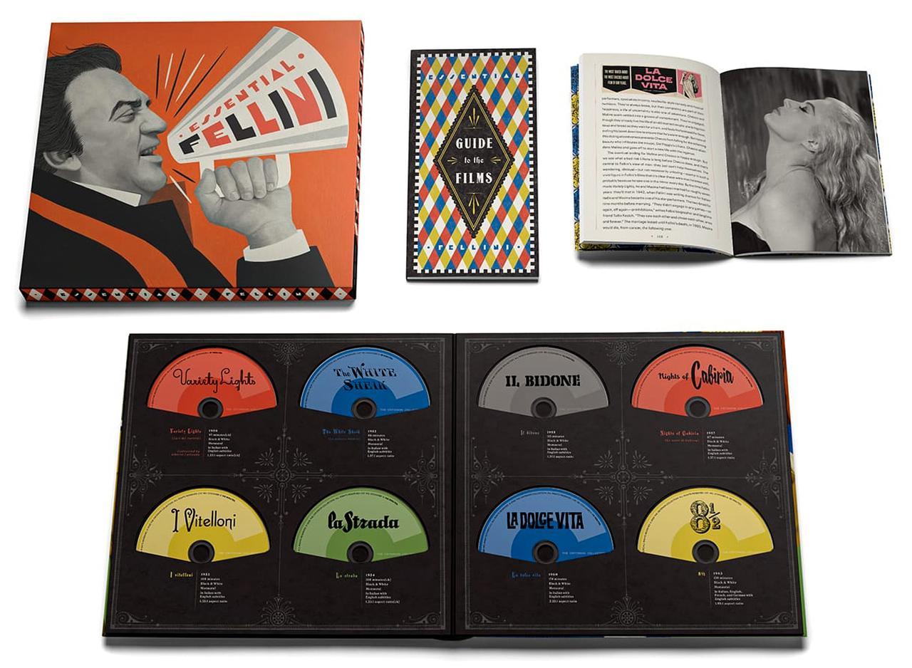 画像: エッセンシャル・フェリーニ/Fifteen-disc set//11月24日リリース 1950 - 1987年/監督フェデリコ・フェリーニ New 4K restorations of 11 theatrical features, with uncompressed monaural soundtracks for all films