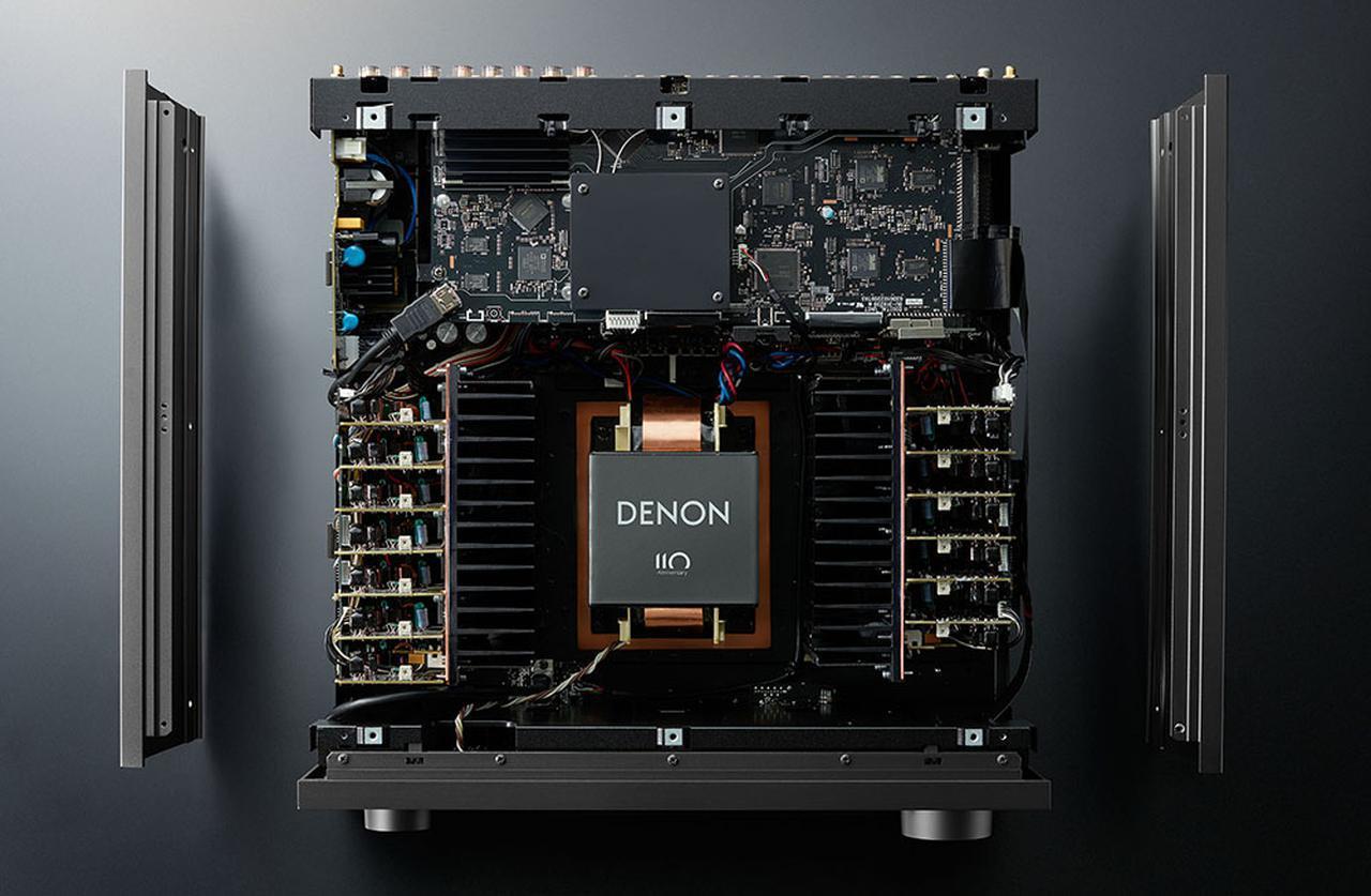 画像3: サラウンドの深淵が再現できるAVセンター「AVC-A110」。高音質化のためのアイデアをすべて見直し、さらに8K映像信号にも対応した、デノン創立110周年記念モデル