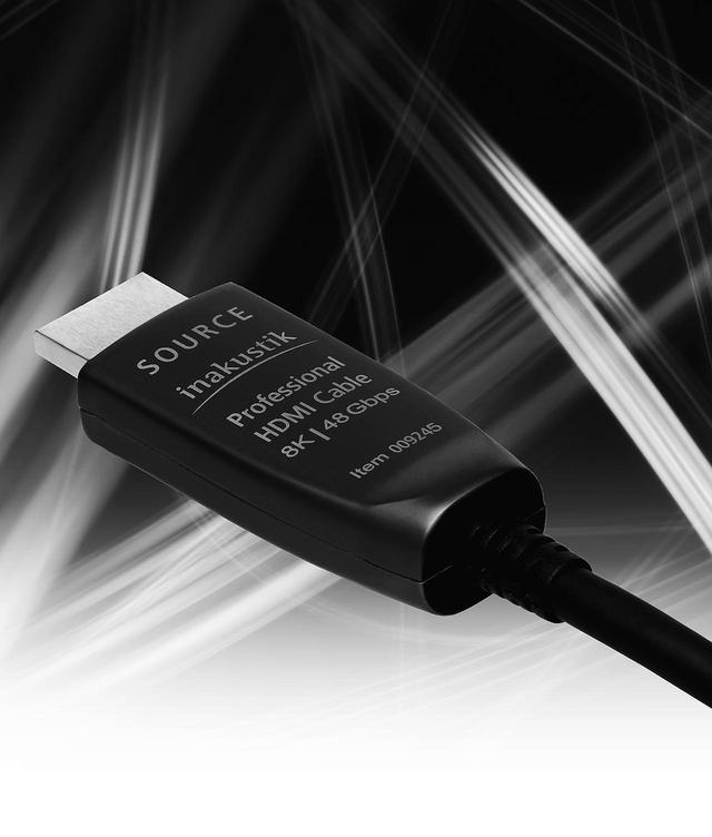 画像: inakustik  HDMI 2.1 OPTICAL FIBER CABLE ¥39,000(2m)+税 ●型式:光HDMIケーブル●対応規格:HDMI2.1●伝送帯域:最大48Gbps ●主な特徴:8K/60p対応(最大100m伝送)、HDR対応、120Fps対応、ARC(50m)、eARC(30m)対応 ●問合せ先:㈱ユキム