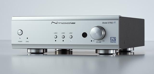 画像: Nmode X-PM3 FT ¥168,000+税 ●定格出力:19W×2(4Ω)、13W×2(8Ω)●接続端子:アナログ音声入力3系統(RCA)、クロック入力1系統●寸法/質量:W210×H62×D250mm/2.3kg(突起物除く)●備考:生産予定台数200台