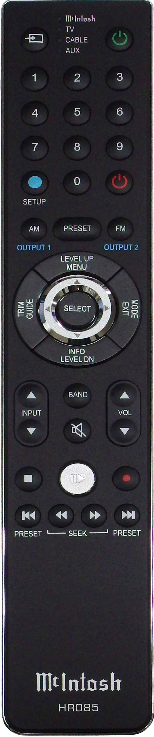画像: 入力切替えや音量調整が可能なリモコンが付属。