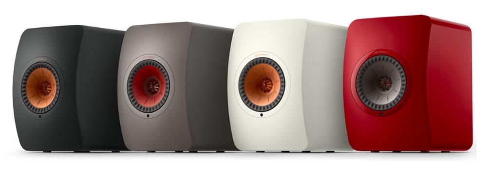 画像: LS50 Wireless IIは、カーボン・ブラック、チタニウム・グレイ、ミネラル・ホワイトの3色と、スペシャル・エディションカラーのクリムゾン・レッド仕上げが準備される