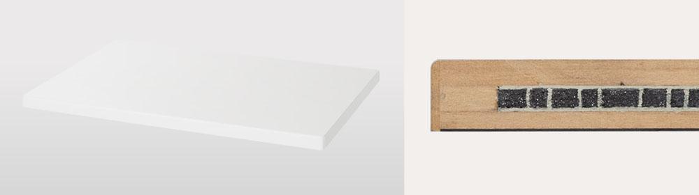 画像: 「SC-C70MK2」購入者に向けたキャンペーンでは、写真のオーディオボードがプレゼントされる。右はその断面で、間に鉄粉をサンドイッチした頑丈な構造を採用している