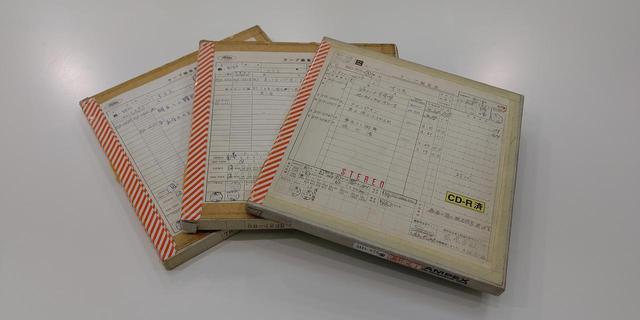 画像: 今回使用されているアナログマスター。2曲のみ、デジタルマスターを使用している www.stereosound-store.jp