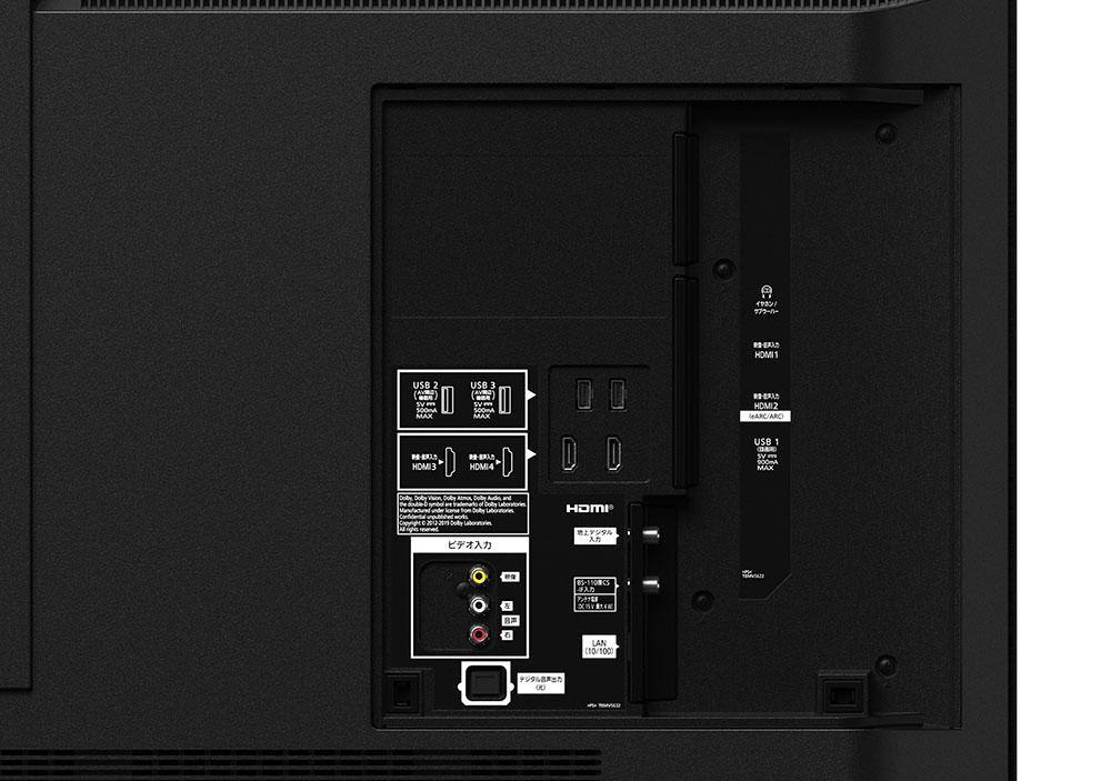 画像: 背面端子部。4系統のHDMI入力はすべて18Gbpsの信号を受け付ける