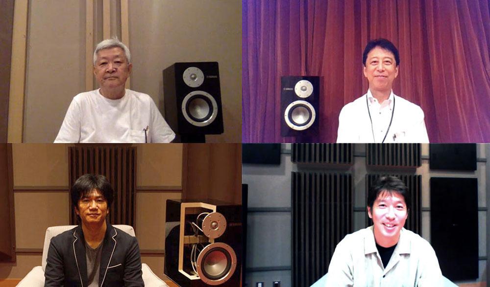 画像: リモートインタビューの画面より。左上が和田さん、右上が小林さん、左下が杉村さん、右下が熊澤さん。今回は内容がとても濃かったこともあり、3時間近く語り合っていただきました