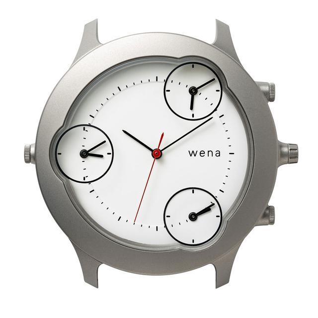 画像: 「wena head designed by Shunji Yamanaka」。ムーブメントが4つ内蔵されているので、時計合わせようのボタンも4つある