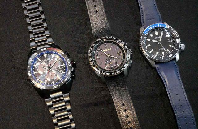 画像: 左から「wena3 -PROMASTER Edition-」、「wena3 -BRIGHTZ Edition-」、「wena3 -SEIKO Mechanical Edition-」