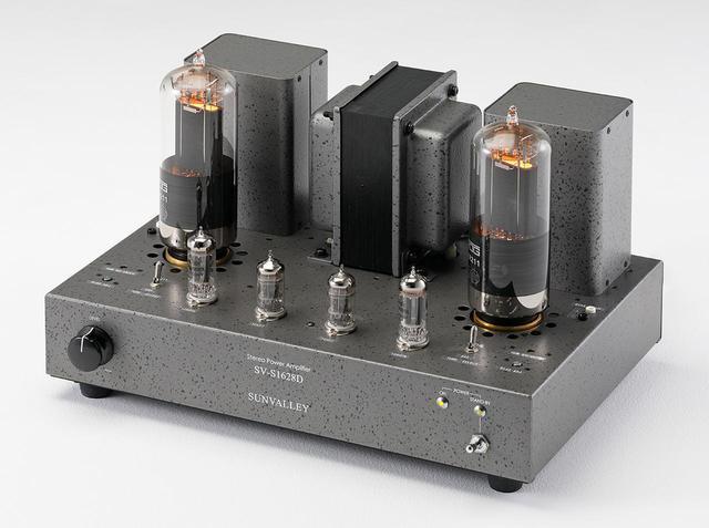 画像: サンバレー V-S1628D ELROG ER211ver. ¥339,100(送料込) ●定格出力:7.5W+7.5W(8Ω) ●入力端子:LINE1系統(RCAアンバランス、可変) ●スピーカー出力端子:4Ω、8Ω、16Ω(注文時に1系統選択)●使用真空管:12AU7(Electro-Harmonix)×2、12BH7(Electro-Harmonix)×2、ELROG ER211×2 ●寸法/重量:W410×H240×D275mm/15kg ●備考:キット仕様(¥315,100送料込)あり ●問合せ先:(株)サンバレー