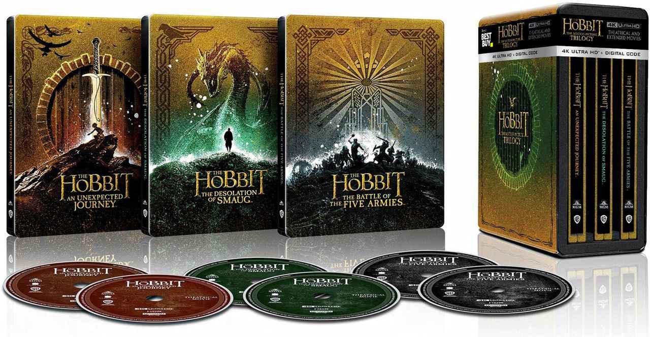 画像: The Hobbit: The Motion Picture Trilogy Steelbook ( Best Buy Exclusive ) - $119.99