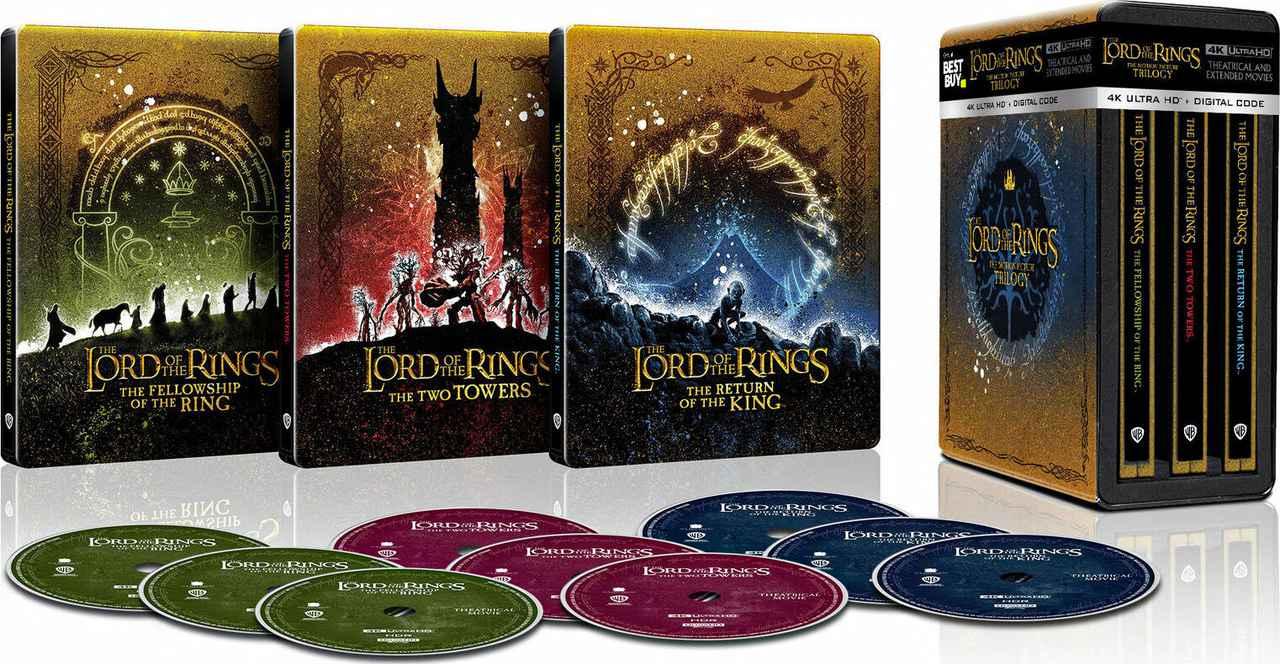 画像: The Lord of the Rings: The Motion Picture Trilogy Steelbook ( Best Buy Exclusive ) - $119.99
