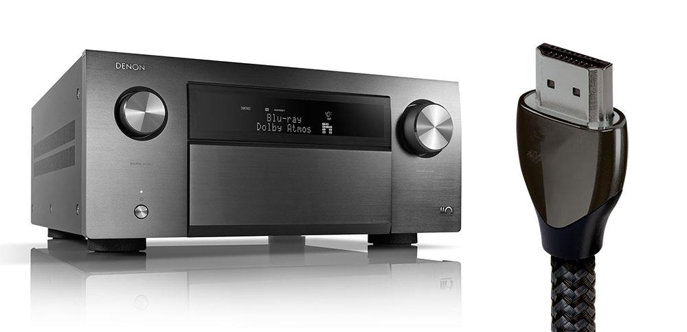 画像: AVセンタ−「AVC-A110」(左)の購入者には、48Gbps対応AudioQuest製HDMIケーブル(右)をプレゼント
