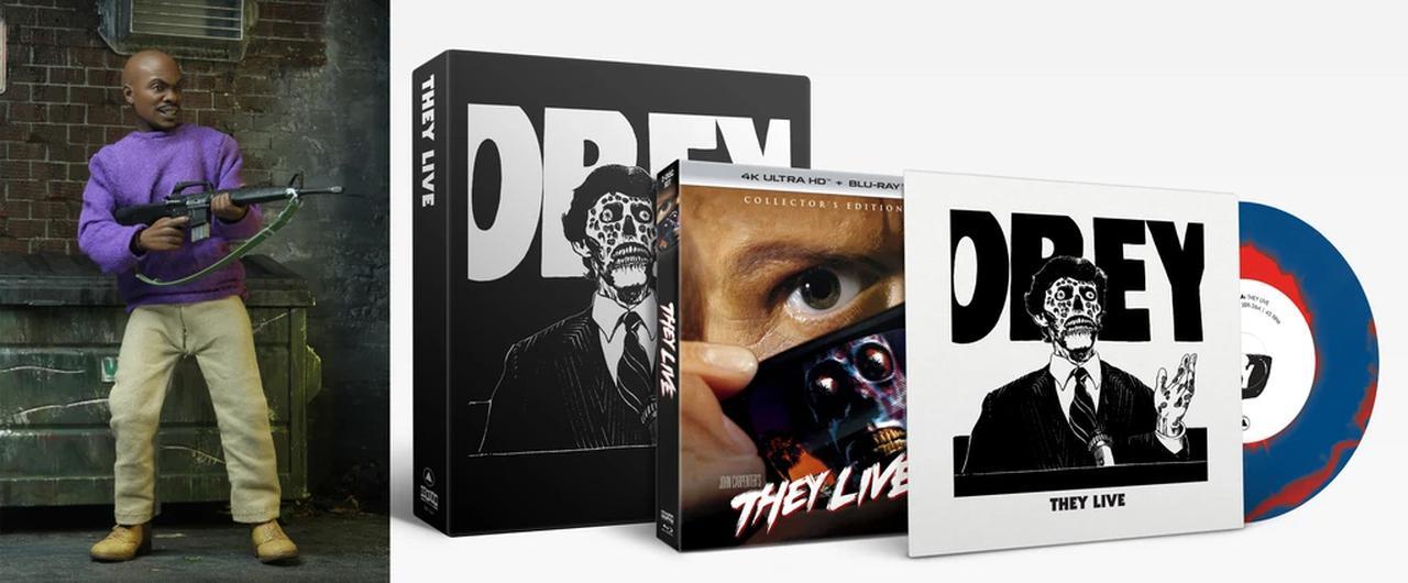 画像: DELUXE OFFER: THEY LIVE + Poster + Exclusive Vinyl + Exclusive NECA Action Figure - $94.99