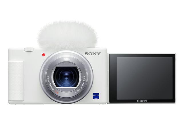"""画像1: ソニーの""""VLOGCAM""""に新色ホワイトが登場。スマホからのアップグレードユーザに向けて、女性層も手に取りやすい本格カメラを提案"""