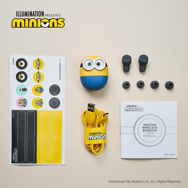 画像2: IRIVER、ミニオンズとコラボした完全ワイヤレスイヤホン「MINIONS WIRELESS EARBUDS」を10月30日に発売。ミニオンの音声ガイダンス搭載!