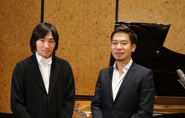 画像: ピアニストの阪田知樹さん(左)と、ホルン奏者の福川伸陽さん(右)