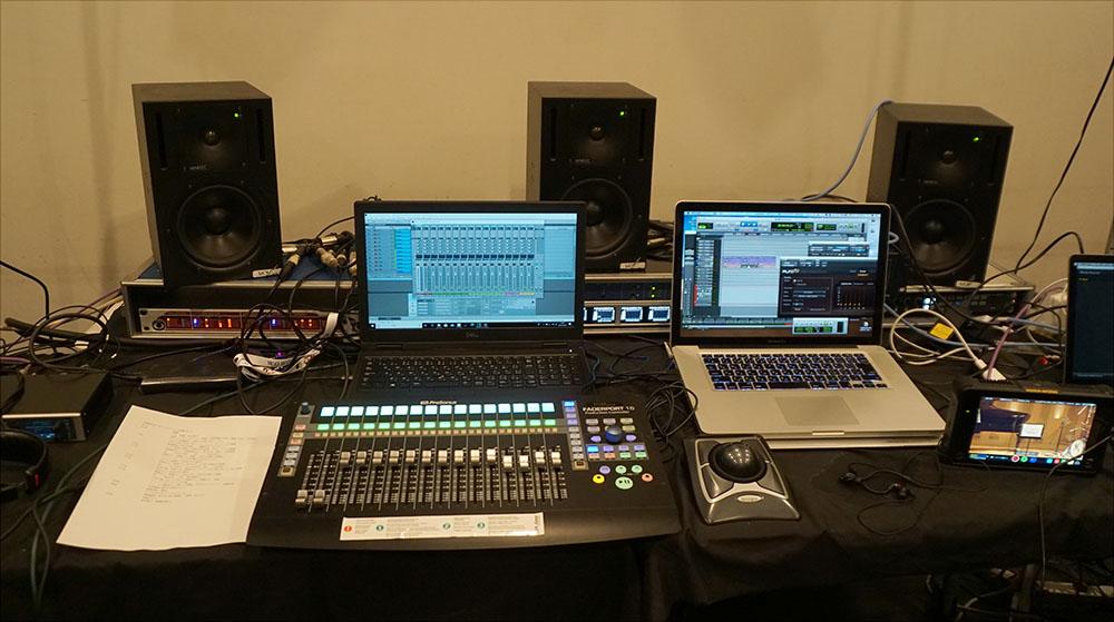 画像: 9.1chミックスやAURO-3Dエンコード作業は、ステージ脇に設置されたこのシステムで行っている