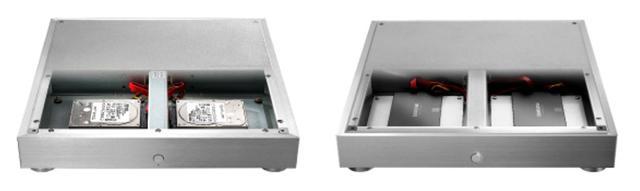 画像: HDD搭載モデルの「HFAS1-HN80」(左)とSSDモデルの「HFAS1-S21」(右)