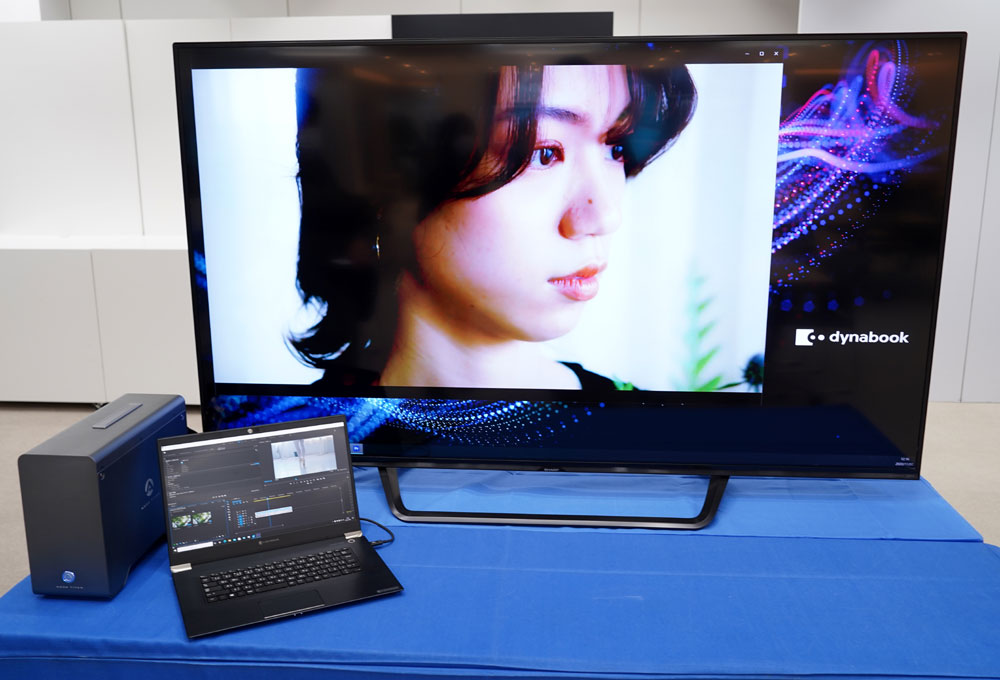 画像: ▲4K液晶を搭載したノートパソコン「Z95」とGPU Boxがセット。映像編集ソフトは別売りだ(ディスプレイも別売り)