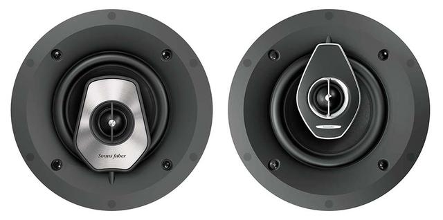画像: LEVEL5の「PC-562」(左)と、LEVEL6の「PC-662」(右)。どちらも29mmドーム型トゥイーターと165mmウーファーを同軸配置した埋め込みスピーカーとなる