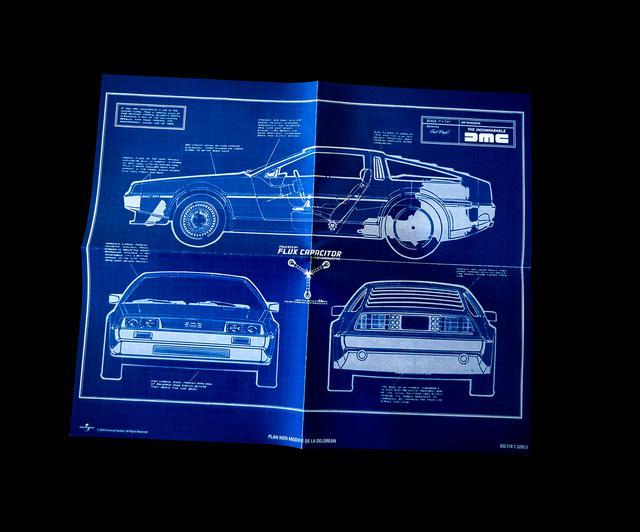 画像: Dolorean Blueprint poster
