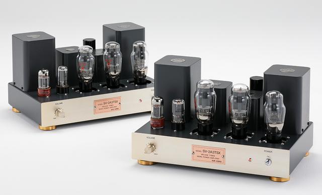 画像: サン・オーディオのパワーアンプ「SV2A3TSX」はタムラ製作所特注のトランス搭載。2A3らしい伸びやかなタッチに聴き惚れる