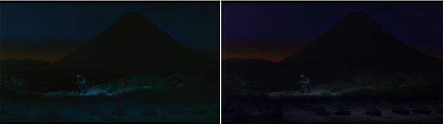 画像1: ▲左は今回の4K/HDR映像。右は旧BD映像(2K/SDR)