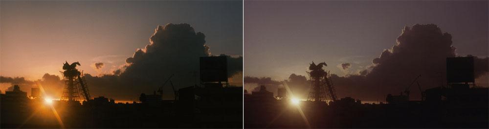 画像2: ▲左は今回の4K/HDR映像。右は旧BD映像(2K/SDR)