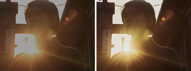 画像: 第8話「狙われた街」より。左の2K/SDR映像ではアンヌ隊員の肩のラインや表情がつぶれているが、右の4K/HDRではきちんと再現されている