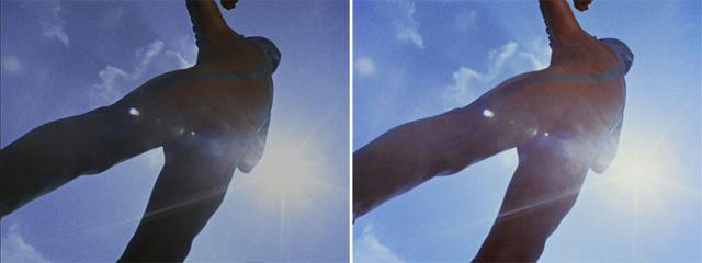 画像: 第3話「湖のひみつ」より。右の4K/HDRでは逆光を使った演出の狙いがとてもよくわかるだろう