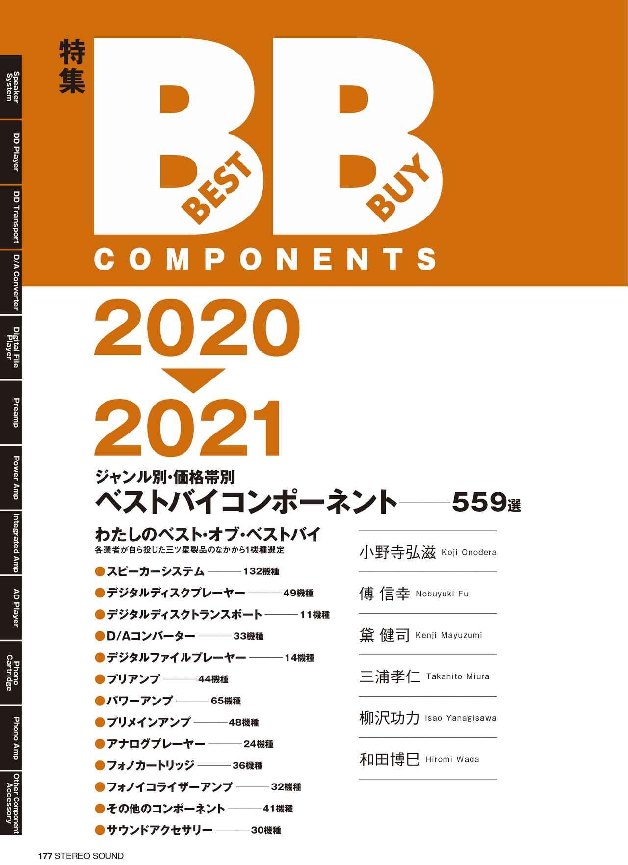 画像: ジャンル別・価格帯別 2020-2021 ベストバイコンポーネント 559選