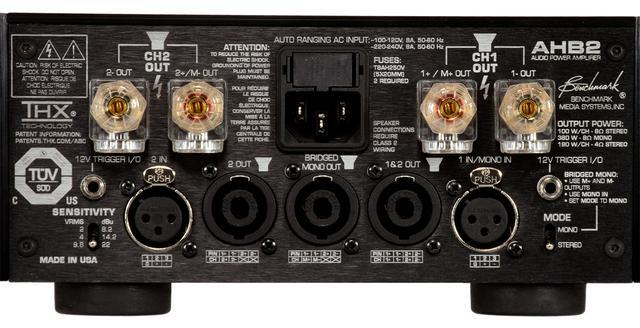 画像: HPA4やLA4と接続できるパワーアンプ。モノーラルモードも備えている。スピーカーへの接続はスピコン端子の使用を推奨している