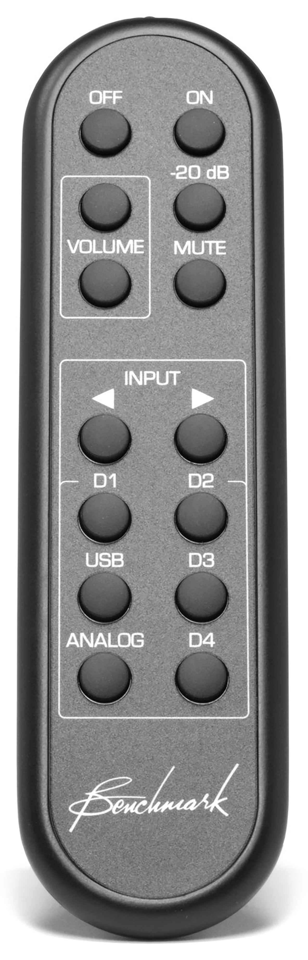 画像: Benchmark Remote Control オープン価格 (実勢価格1万5,000円前後) ベンチマークの製品には専用リモコンも用意されている。アルミダイキャスト製で質感に優れる