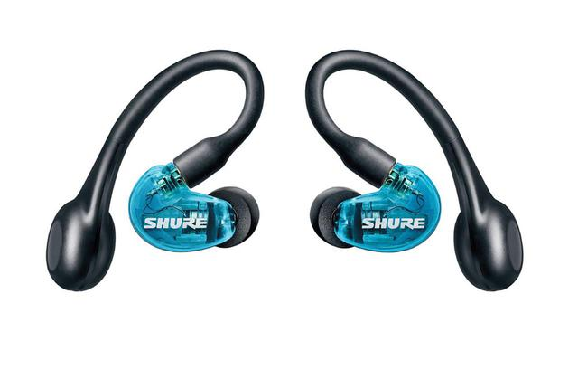 画像: Shure、完全ワイヤレスイヤホン「AONIC 215」を4月3日に発売。耳掛けデザインで、最大8時間の再生が可能。価格は30,000円前後 - Stereo Sound ONLINE